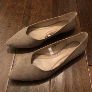 Tan Suede Flats (size 9.5)
